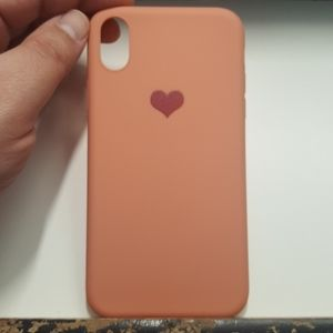 "Case silicone for iphone XR 6.1"" pinkcoral new"